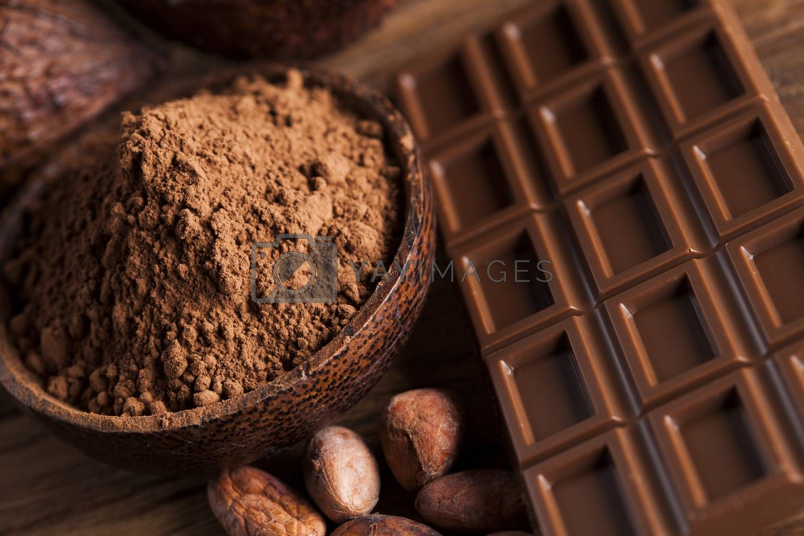 Royalty free image of Chocolate sweet, cocoa and food dessert background by JanPietruszka