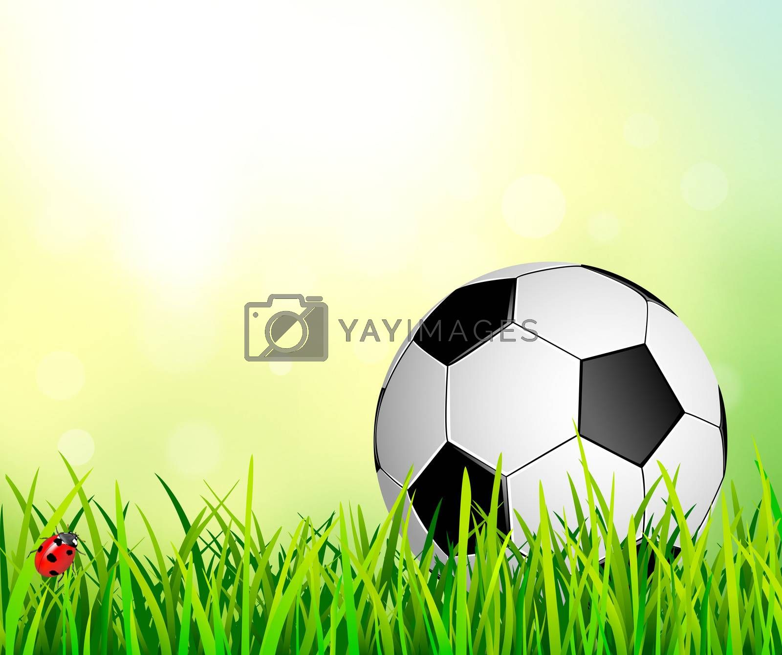 Soccer ball on an abstract background.