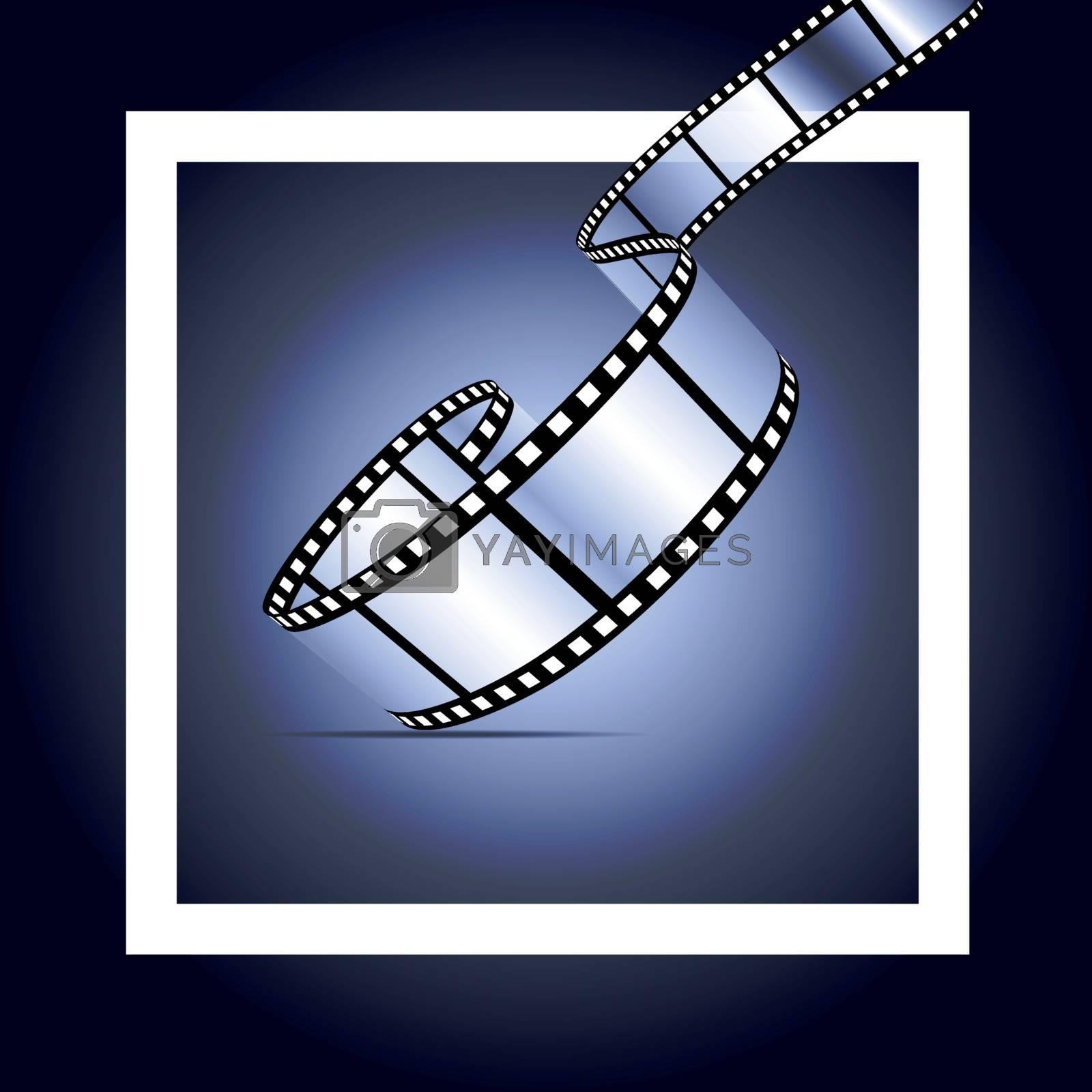 Royalty free image of Film strip background by sermax55