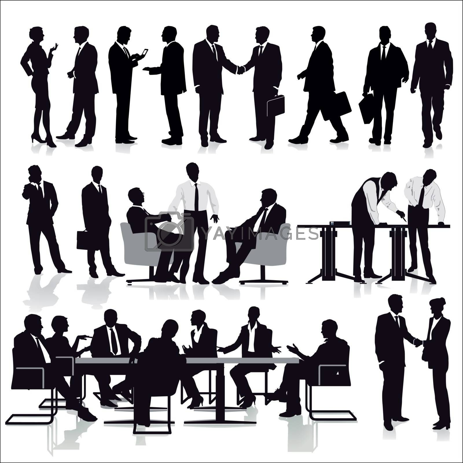 Group of managers in teamwork