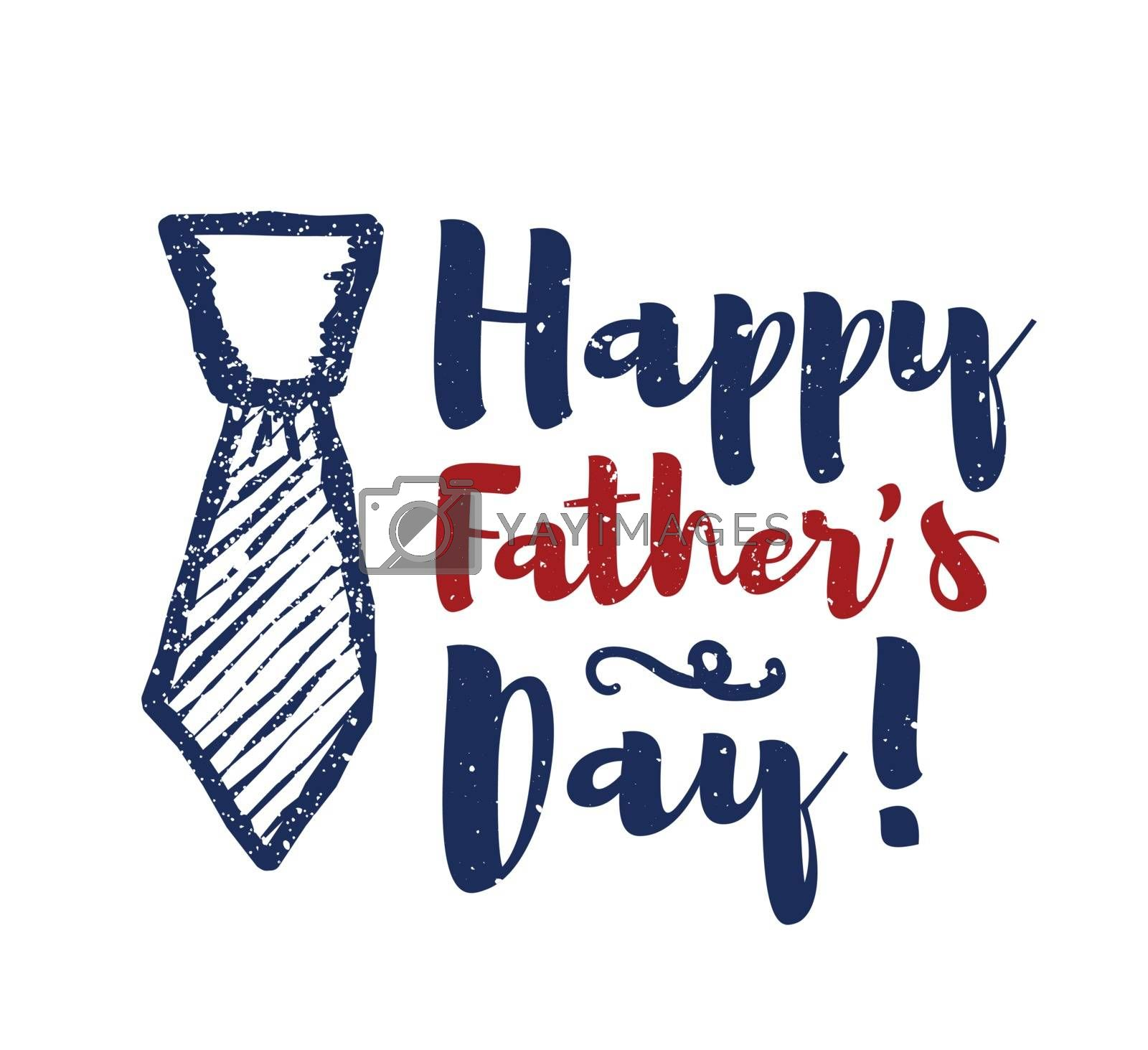 Happy father's day lettering congratulations. Vector illustration