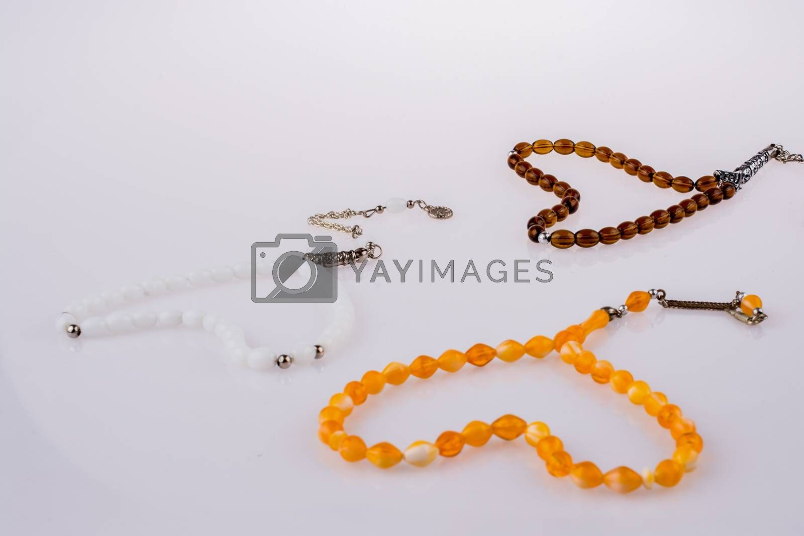 Set of praying beads of various colors