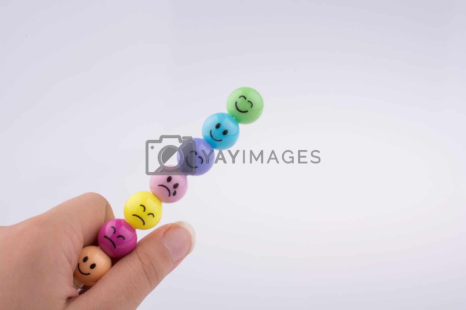 Colorful beads of face various color