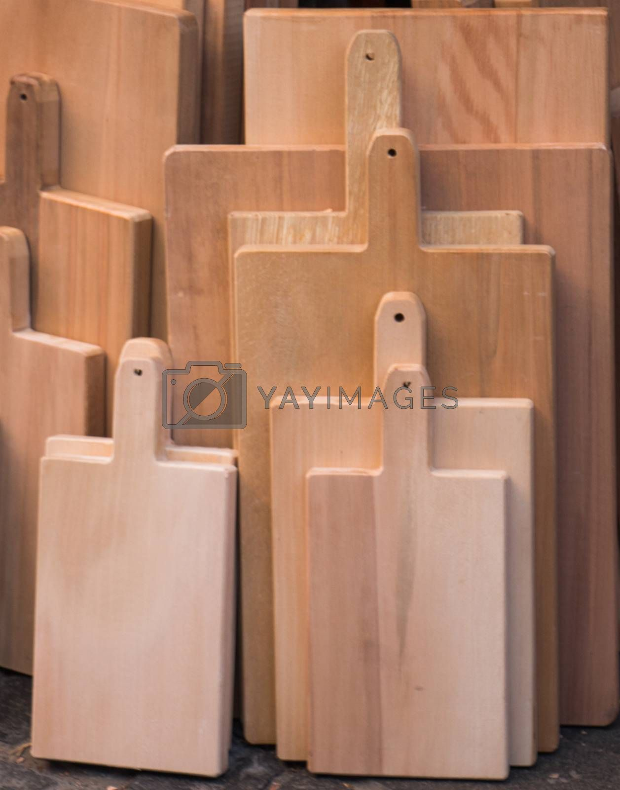 Wooden chopping board as an kitchen item