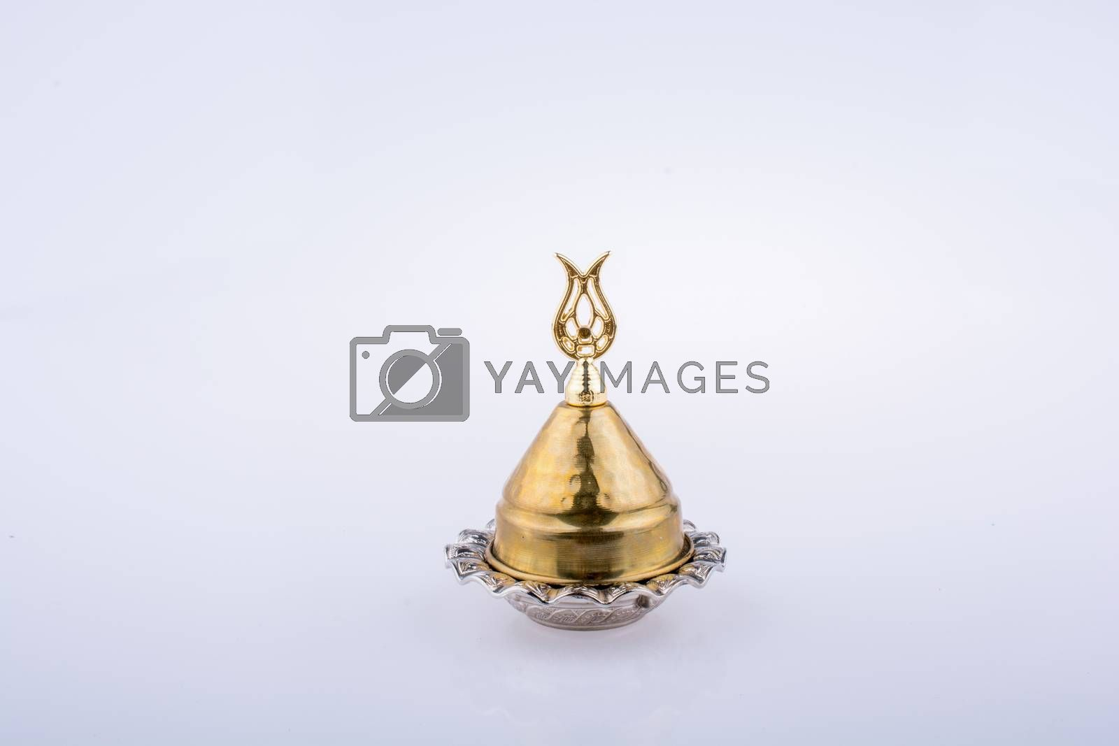 Tulip shape icon made of  metal