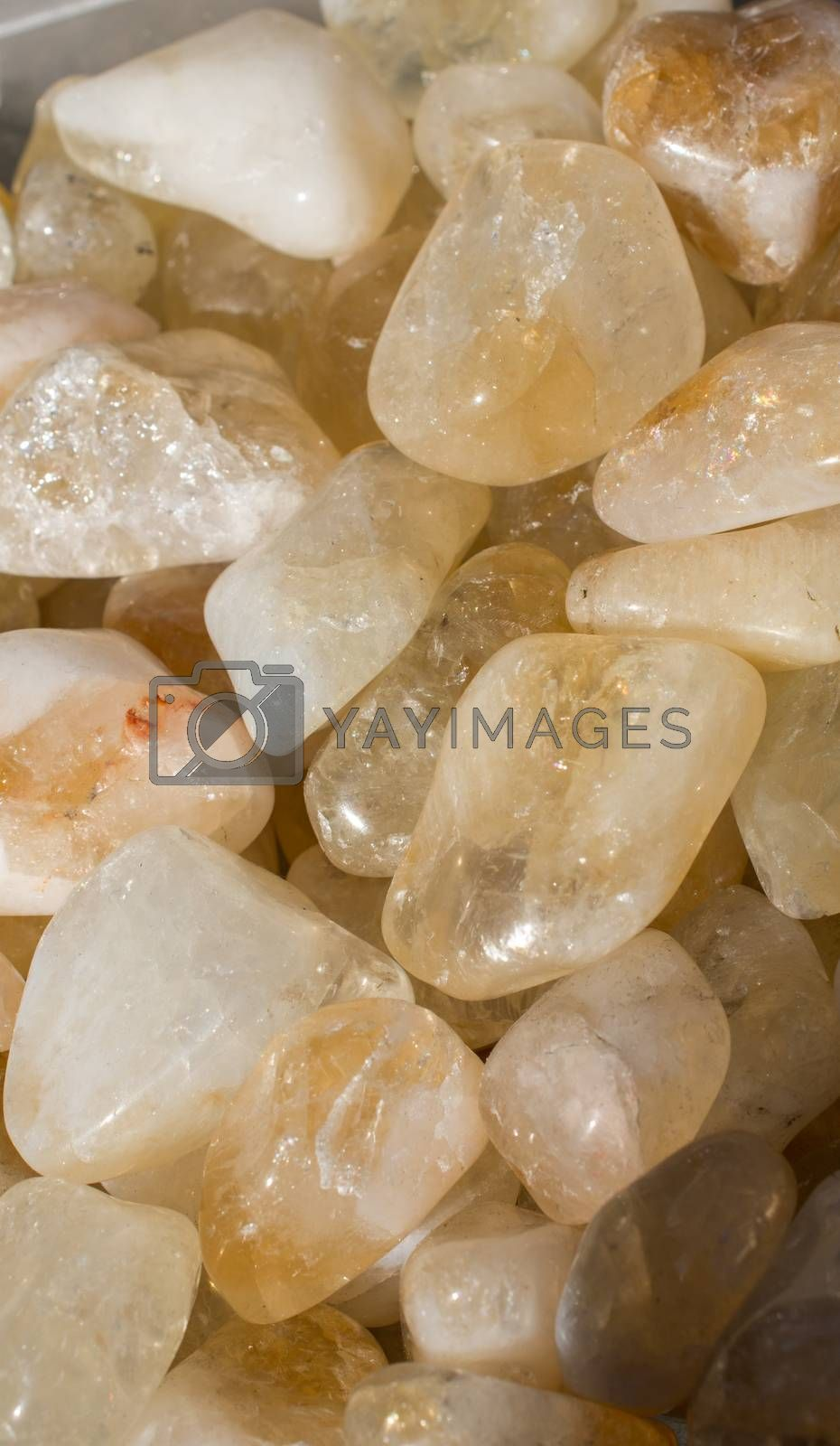 Set of natural mineral gemstones of a certain type