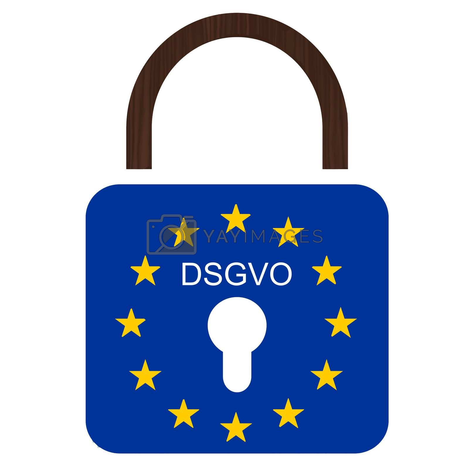 European flag with text DSGVO and 25.05.2018