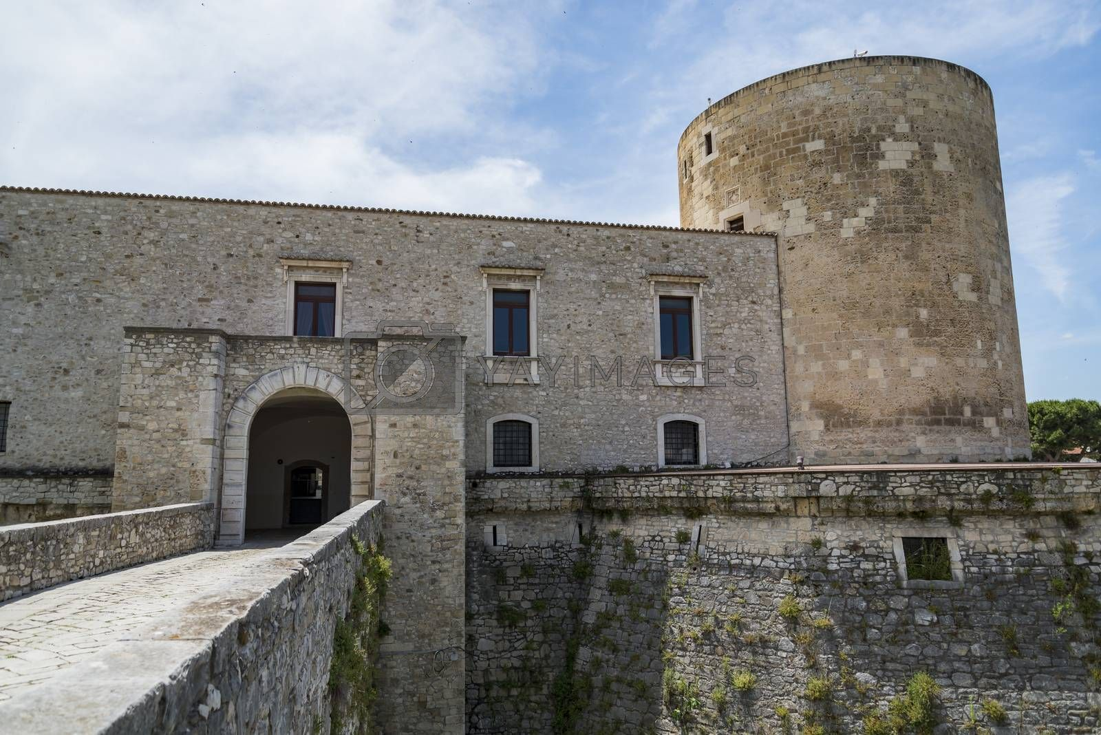View of the old Castle of Venosa. Basilicata. Italy.