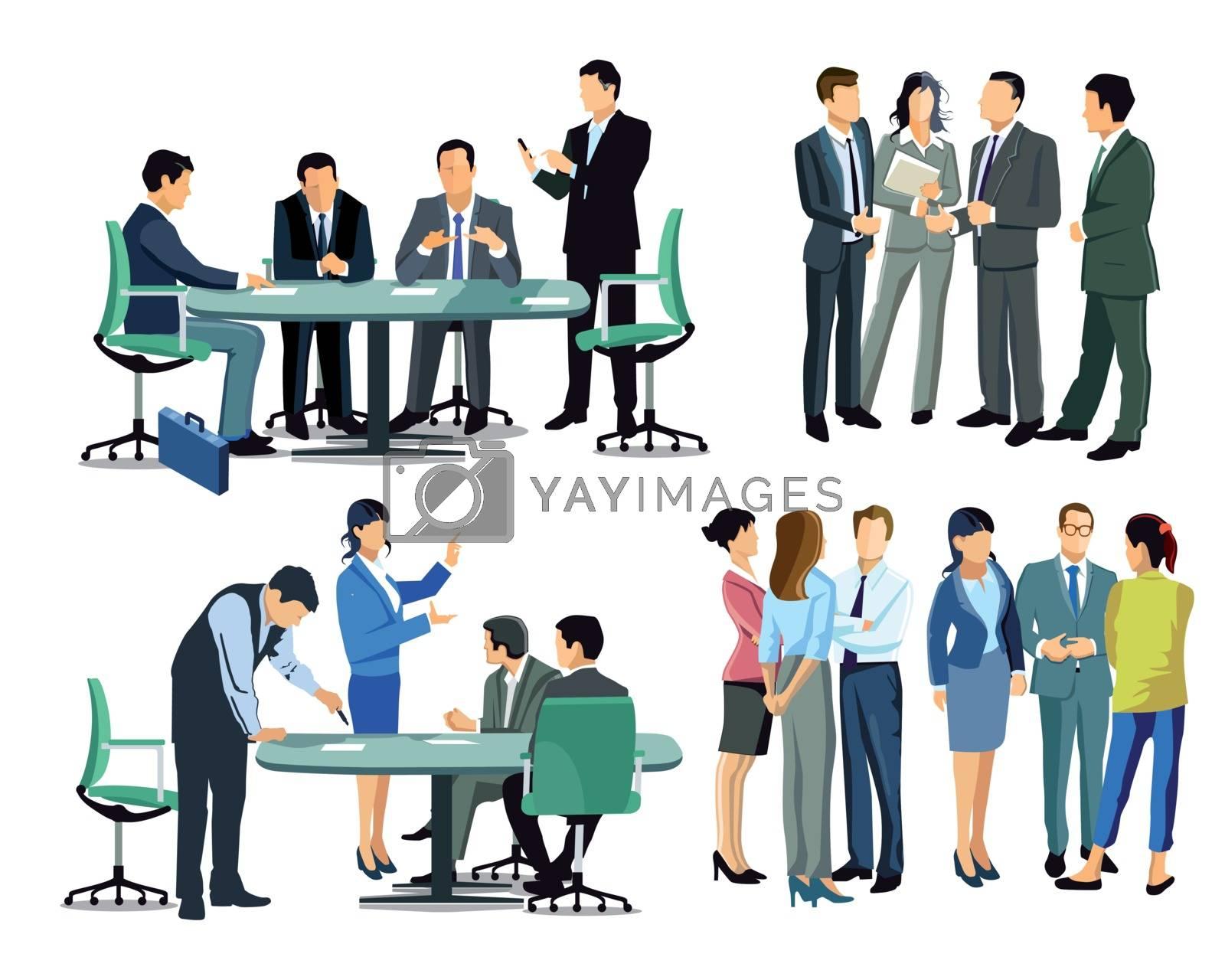 Business meeting among business people
