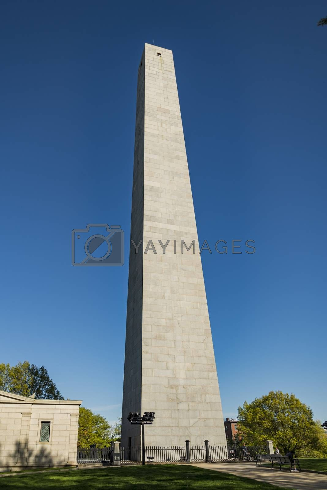 The Bunker Hill Monument, on Bunker Hill, in Charlestown, Boston, Massachusetts