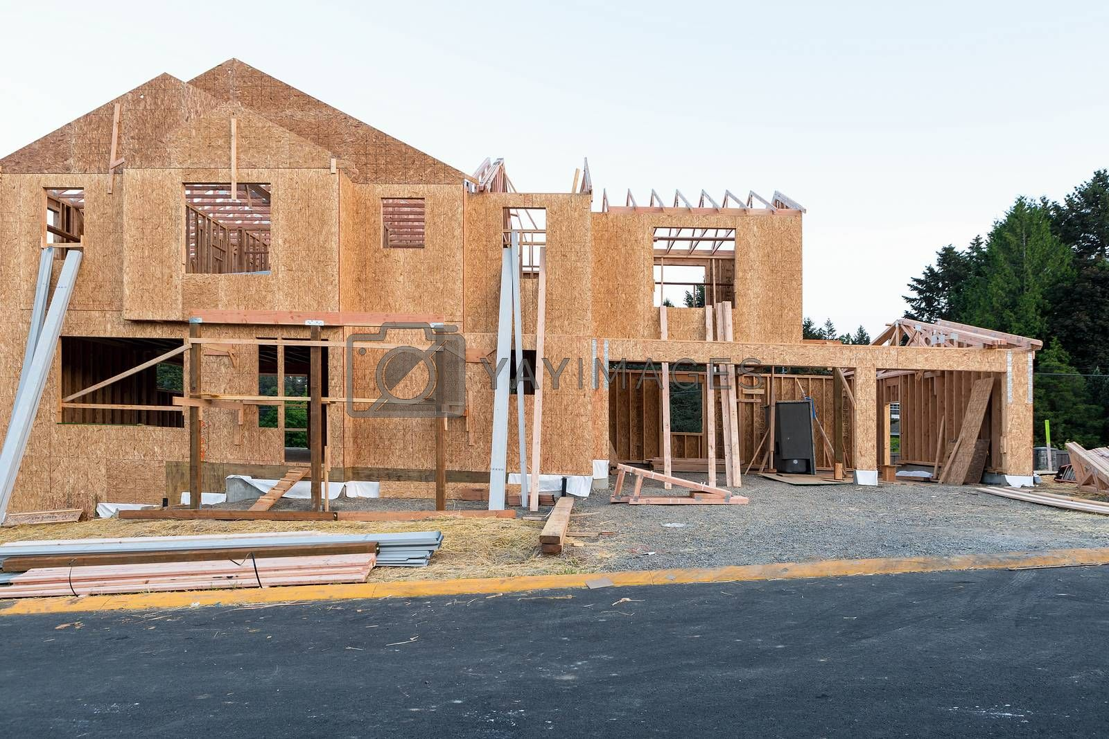 New Single Family Home Construction in New North American Subdivision
