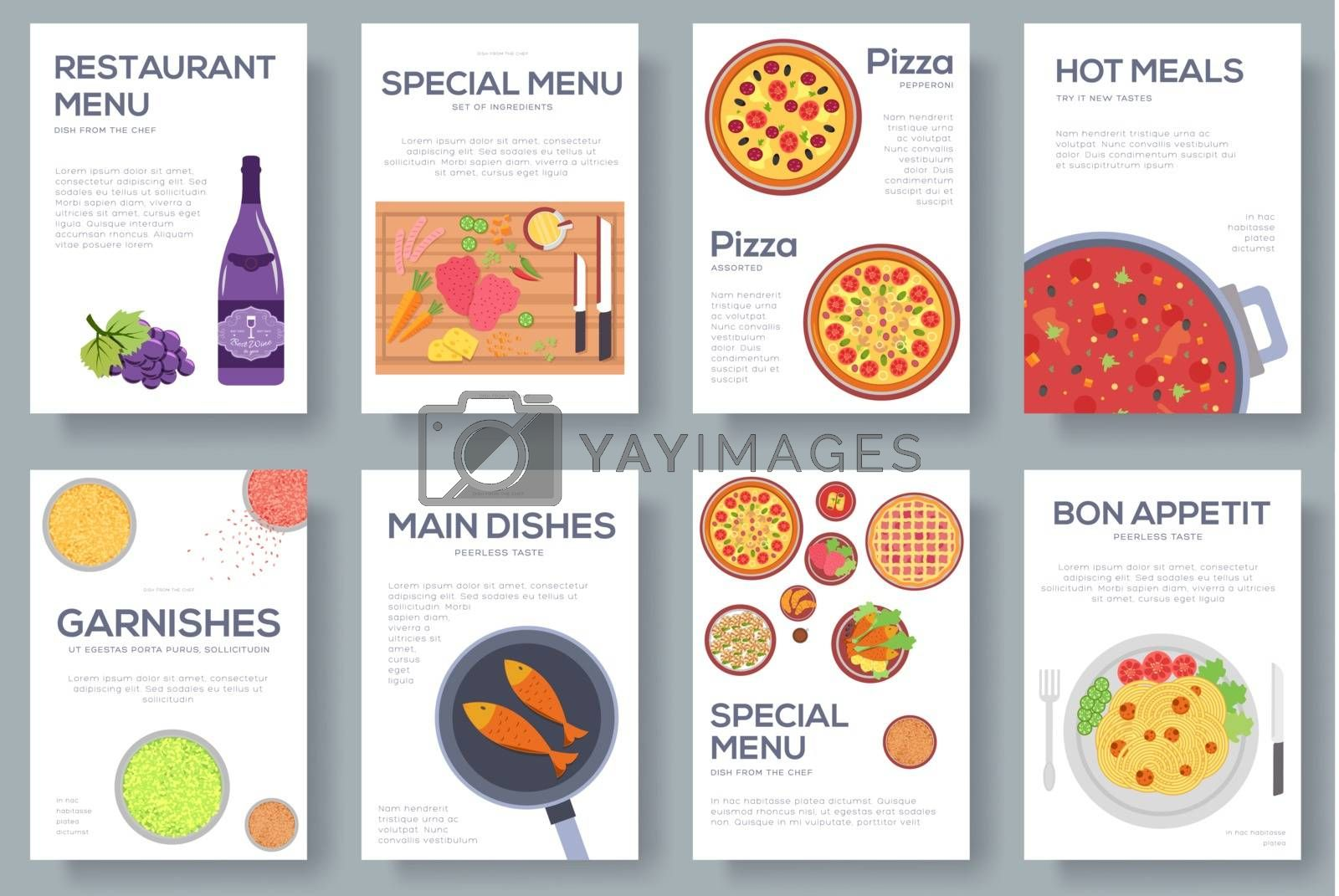 Cooking Set Cards With Menu Vector Background Cooking Menu Banner Design Concept Royalty Free Stock Image Yayimages Royalty Free Stock Photos And Vectors