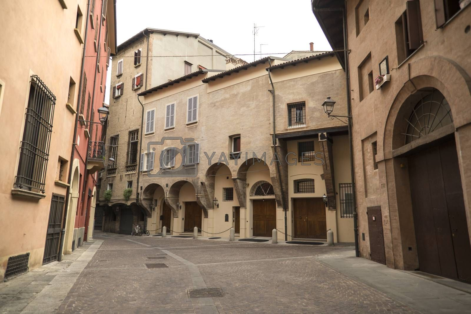 Royalty free image of Medieval street portico in Bologna, Italy by edella