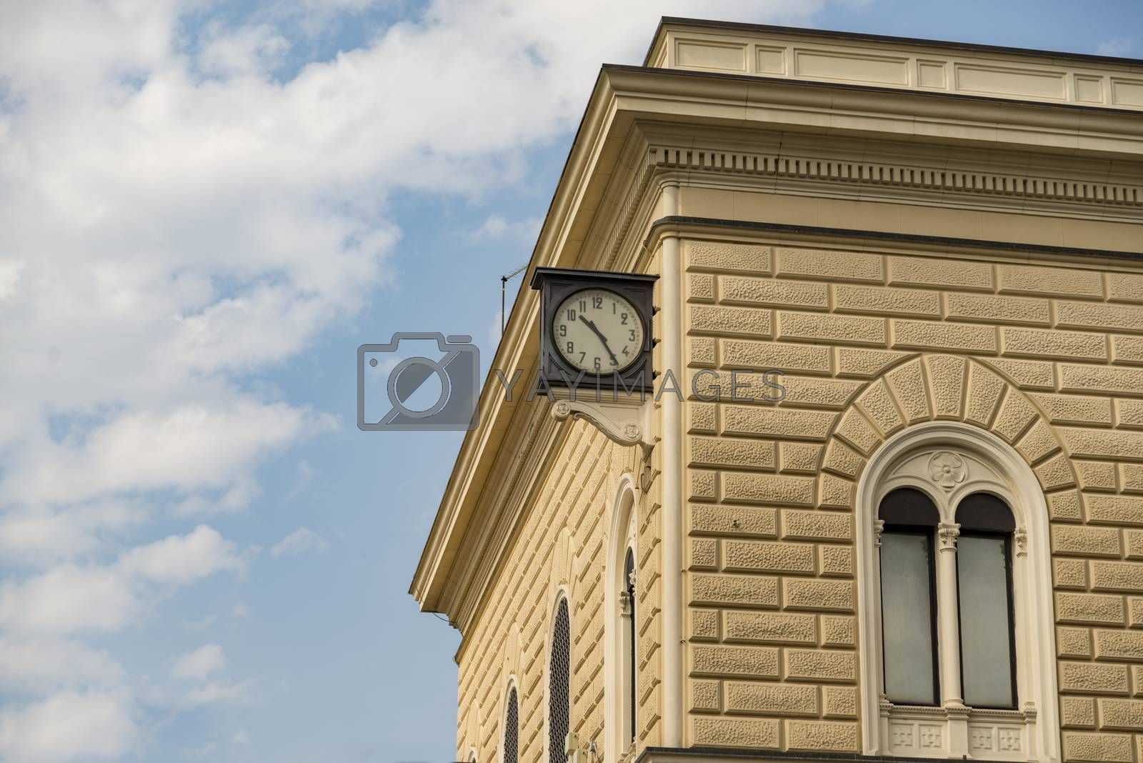 Royalty free image of Famous clock on Bologna Centrale railway station by edella