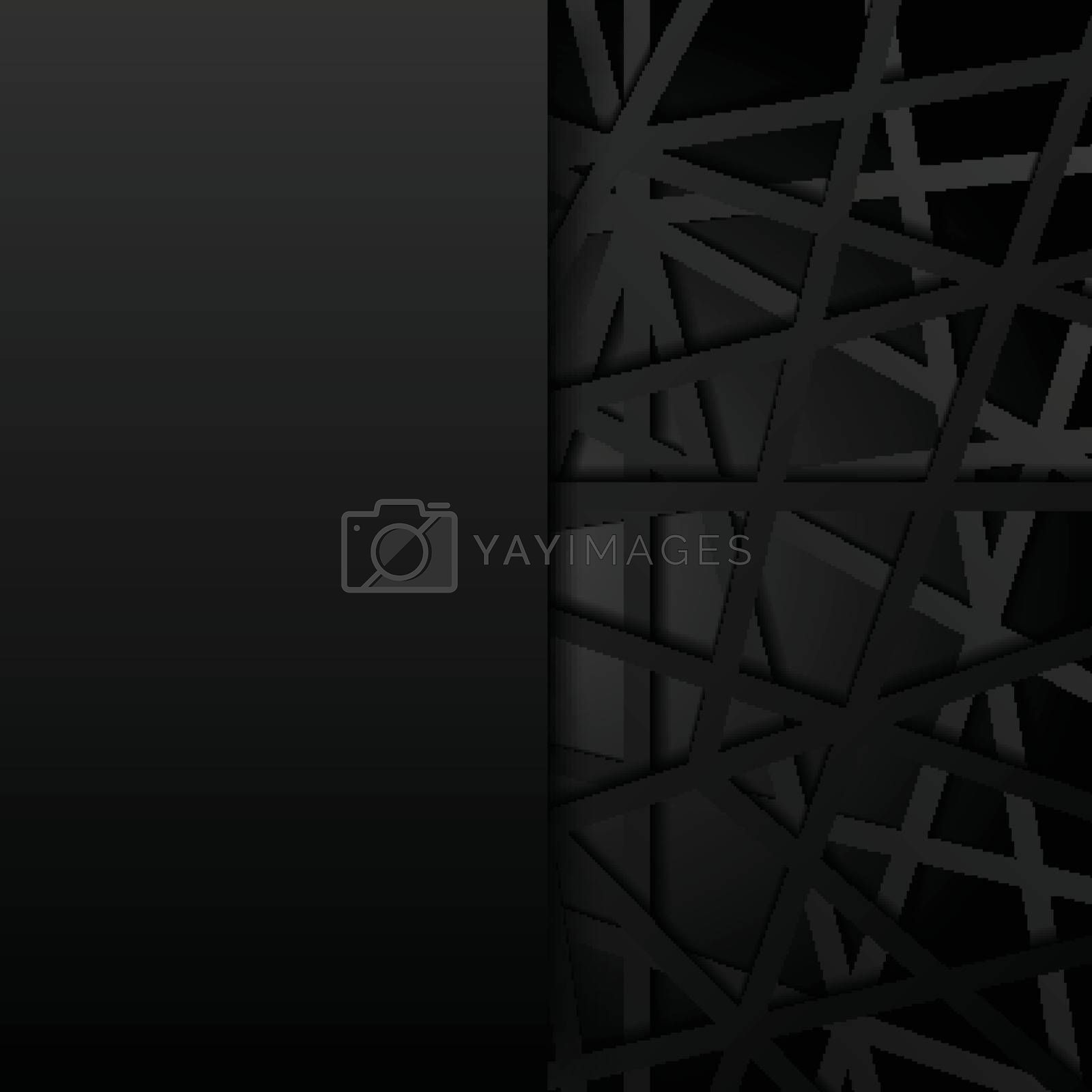 Abstract black lines futuristic overlap background. Digital conn by phochi