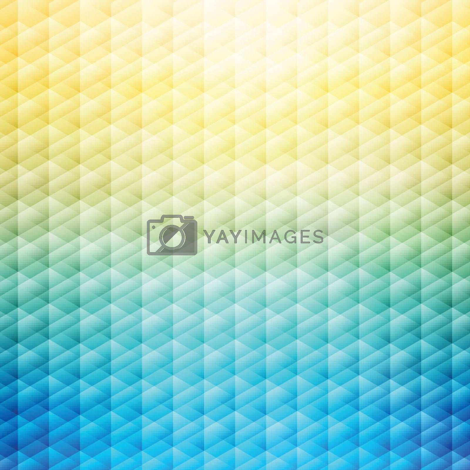 Abstract summer tropical blue and yellow background. Geometric p by phochi