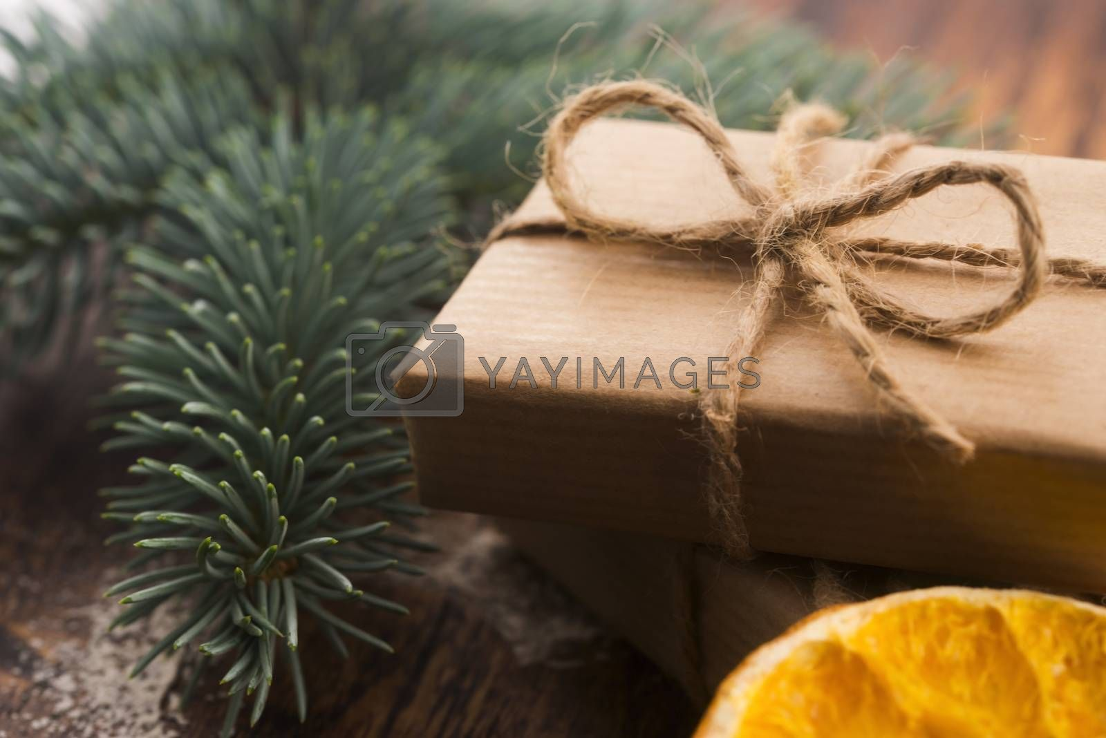 Stack of two holiday gifts