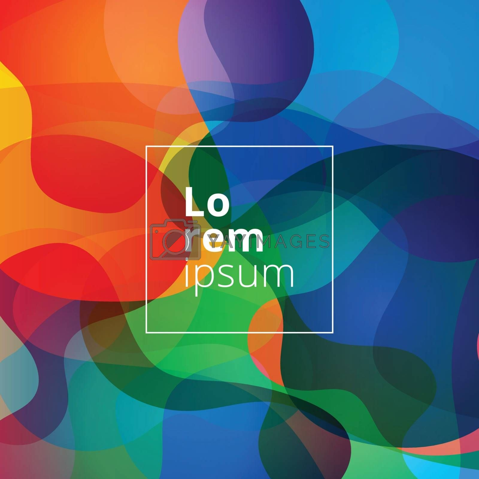 Abstract shapes bright colorful background. Vector illustration