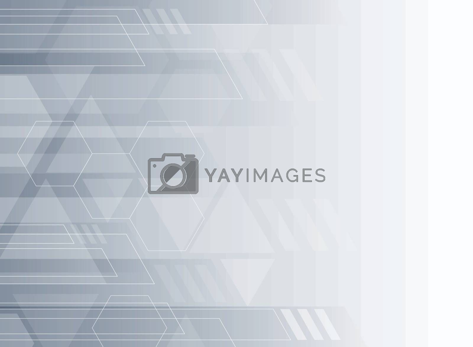 Abstract technology gray and white geometric corporate design background. Vector illustration