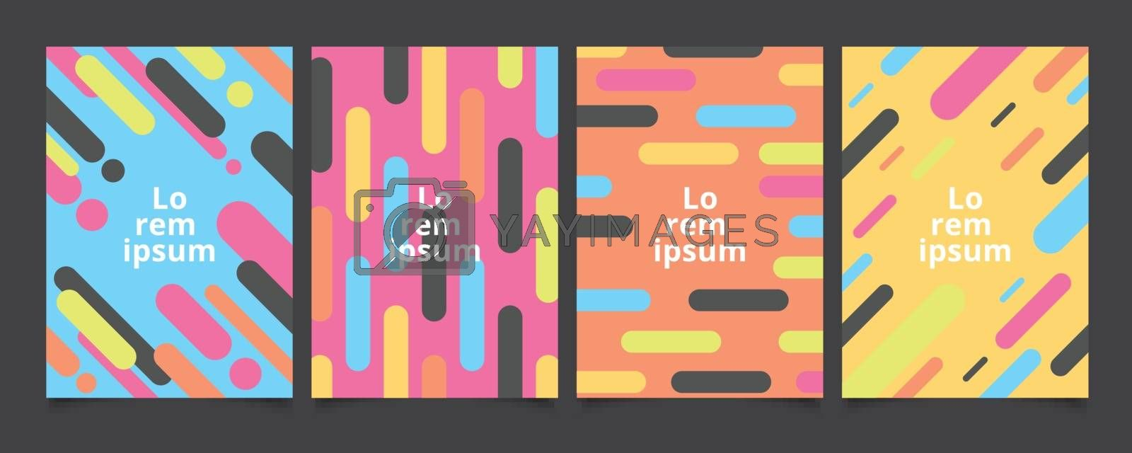 Abstract template background covers with flat geometric pattern  by phochi