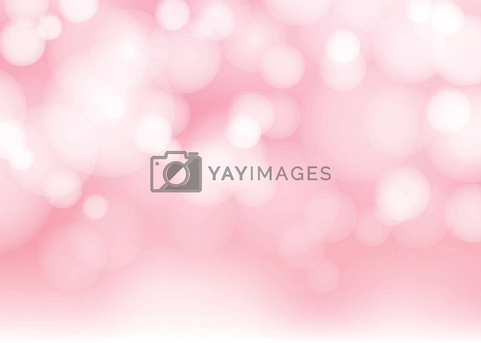 Abstract blurred soft focus bokeh of bright pink color background. copy space. Vector illustration
