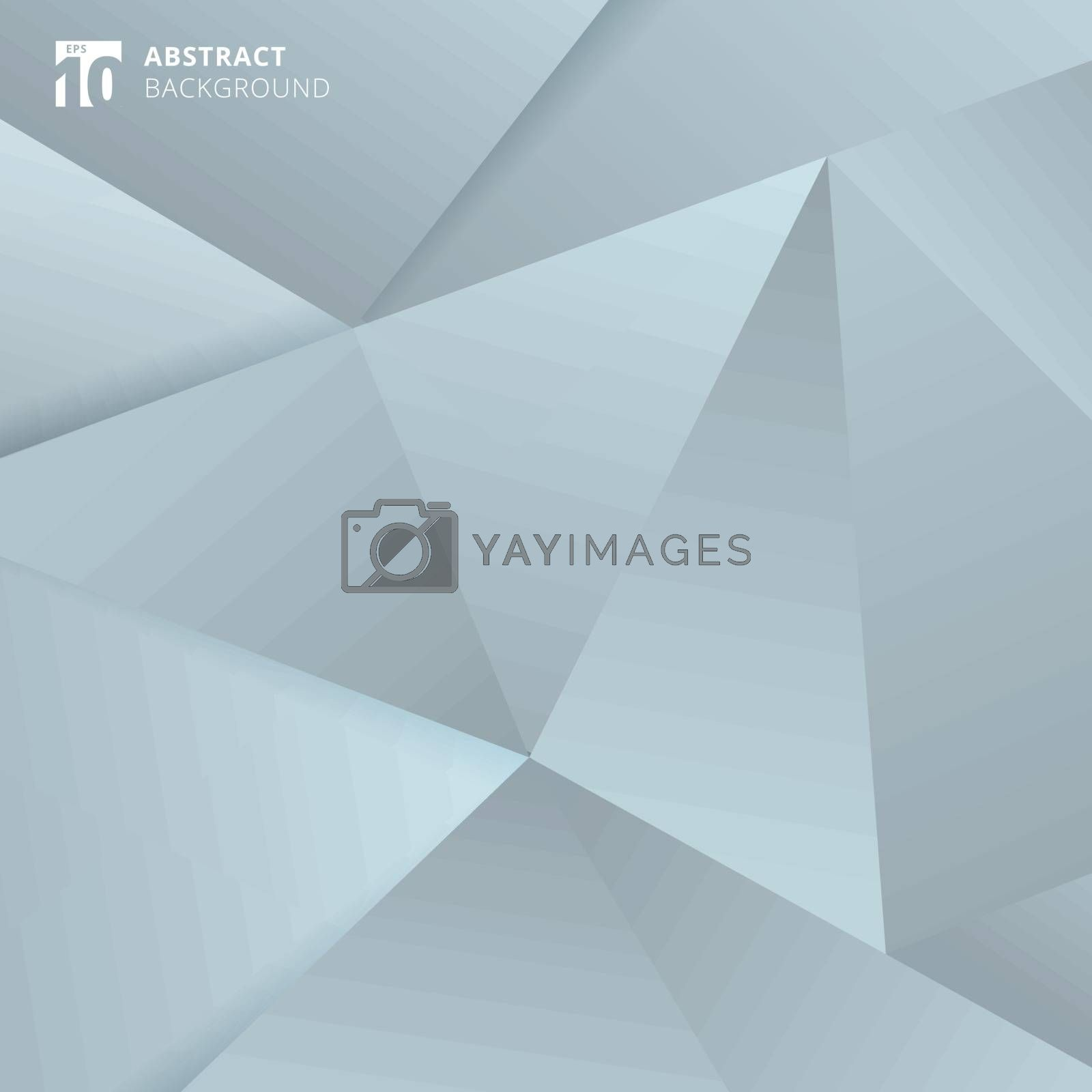 Abstract Gray and blue polygonal background. Vector illustration