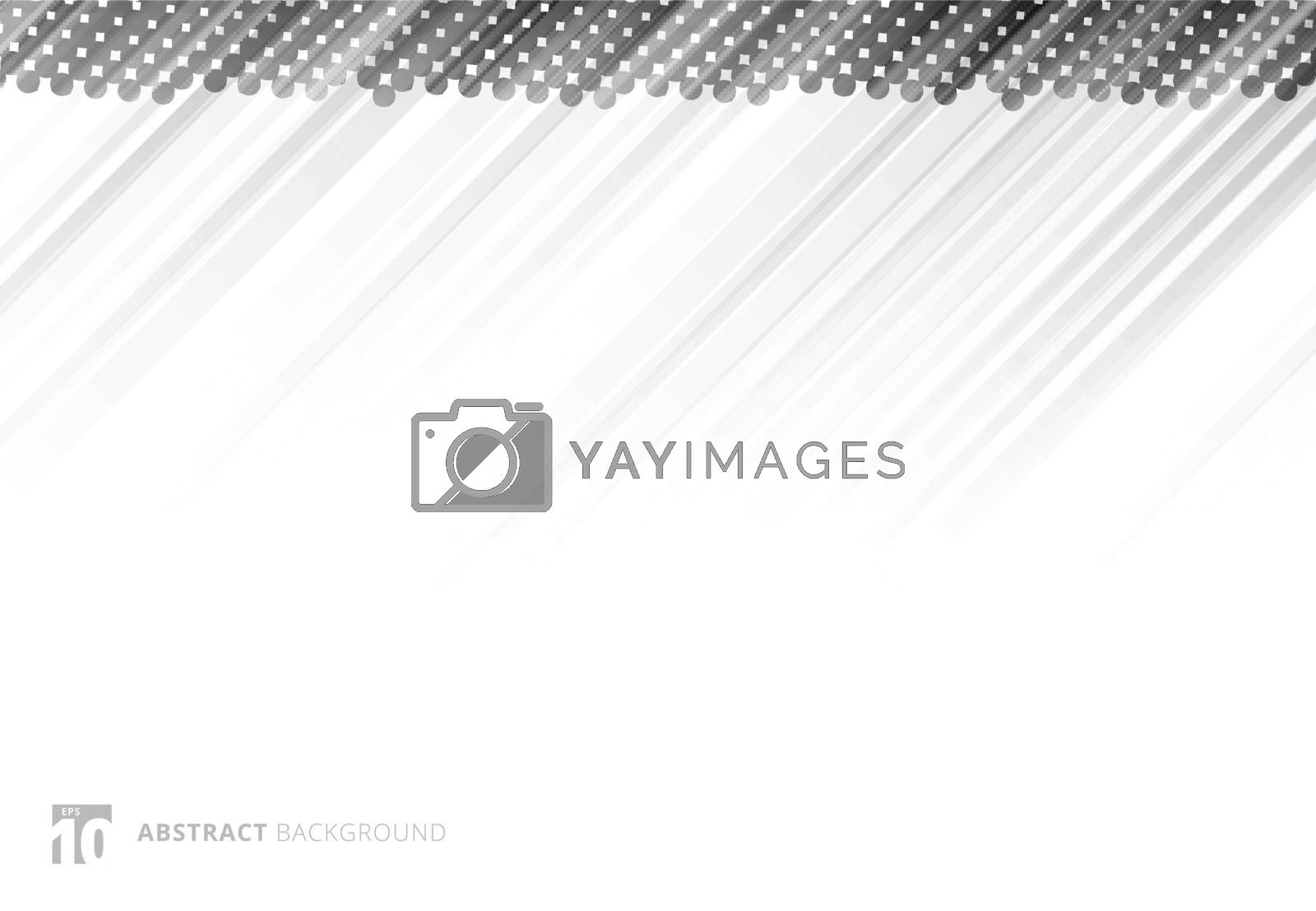 Gray abstract diagonal lines background technology with halftone on white background. Vector illustration
