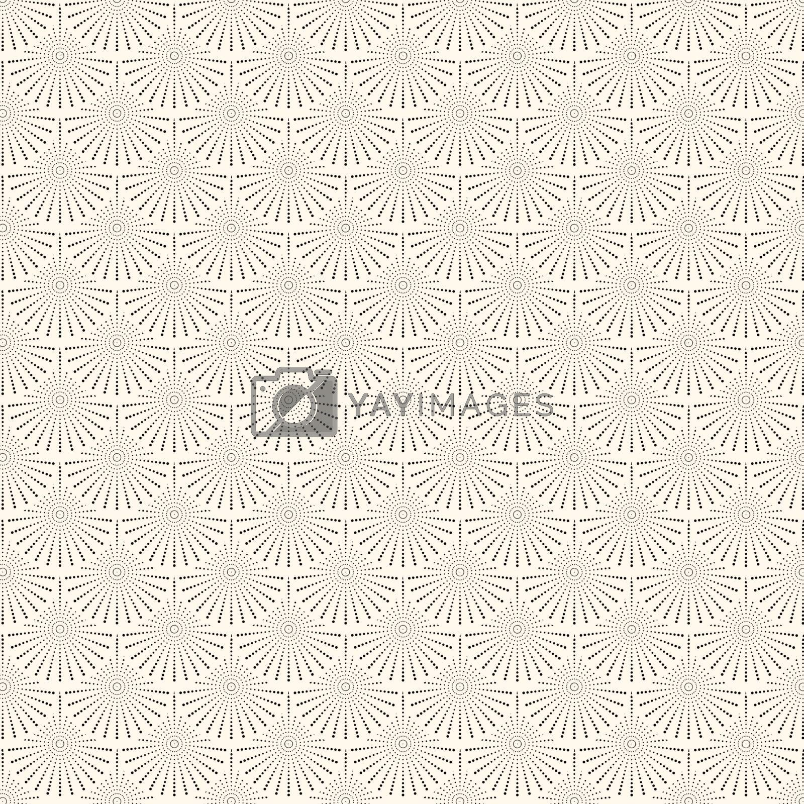 Abstract japanese circles wave pattern. Water curve texture. You can use for background. Vector illustration