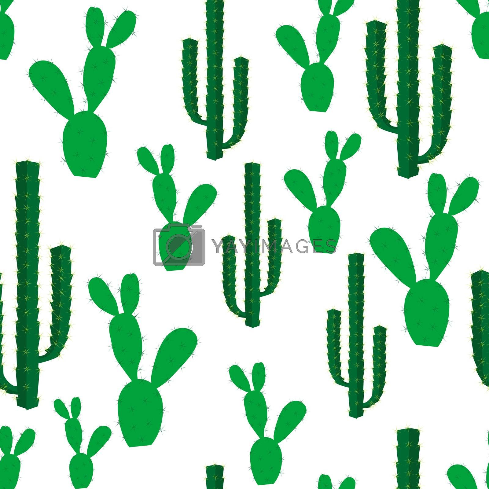 Seamless backgrounds with cactus flowers by hibrida13