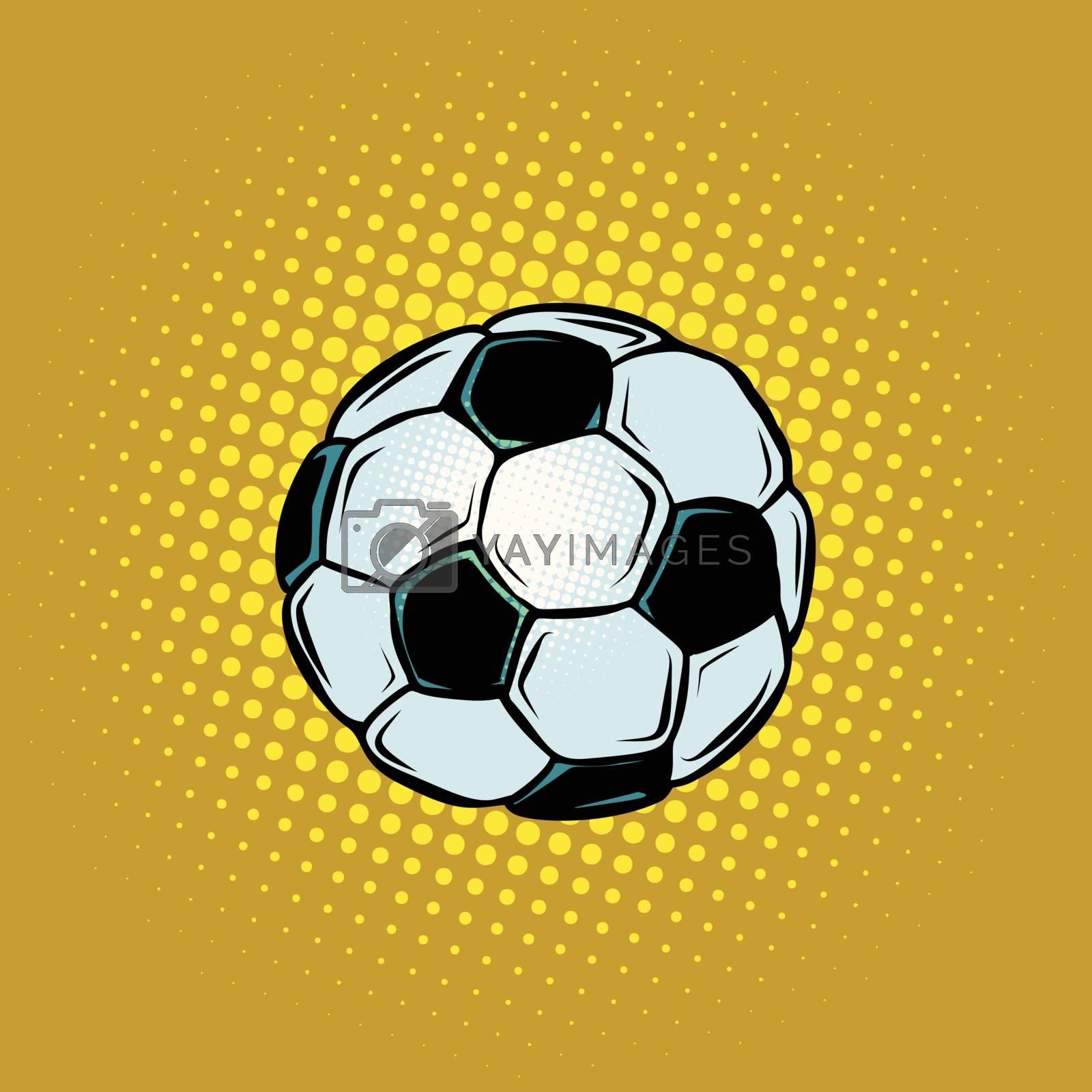 Football soccer ball. Sport world championship competition. Comic cartoon pop art retro vector illustration