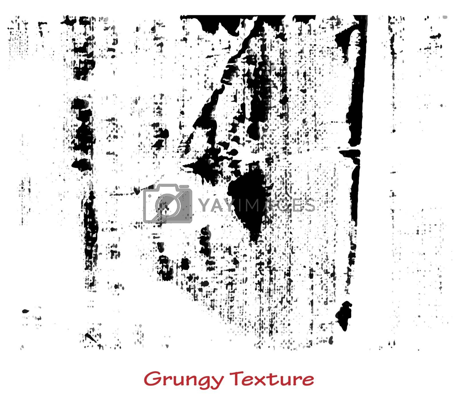 Grungy hand made texture over white background. Elements for your work and design. Eps10