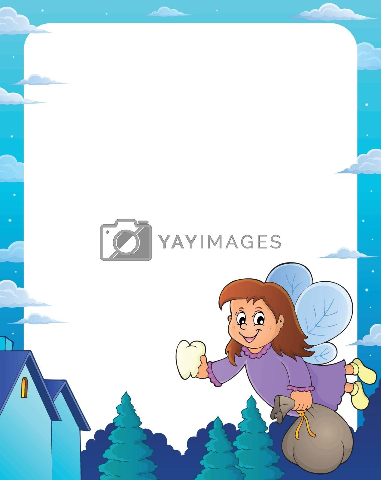 Tooth fairy theme frame 1 - eps10 vector illustration.