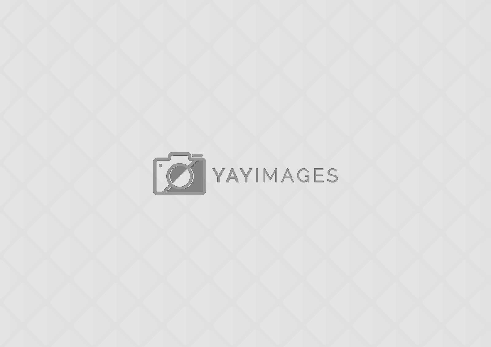 White 3D Grid Texture - Modern Diagonal Pattern on Gray Background, Vector Illustration