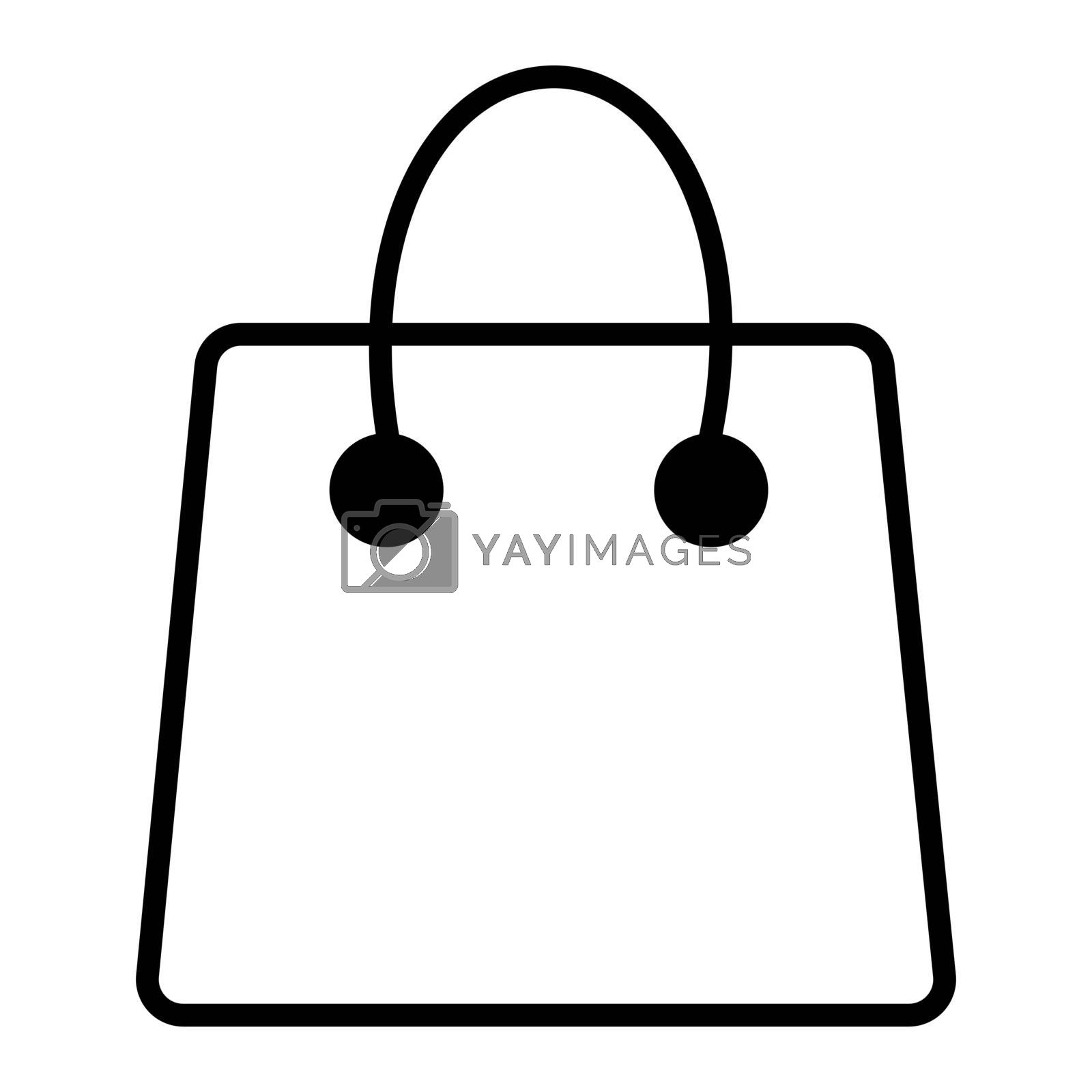 Shopping Bag Simple Line Vector Icon. Eps 10