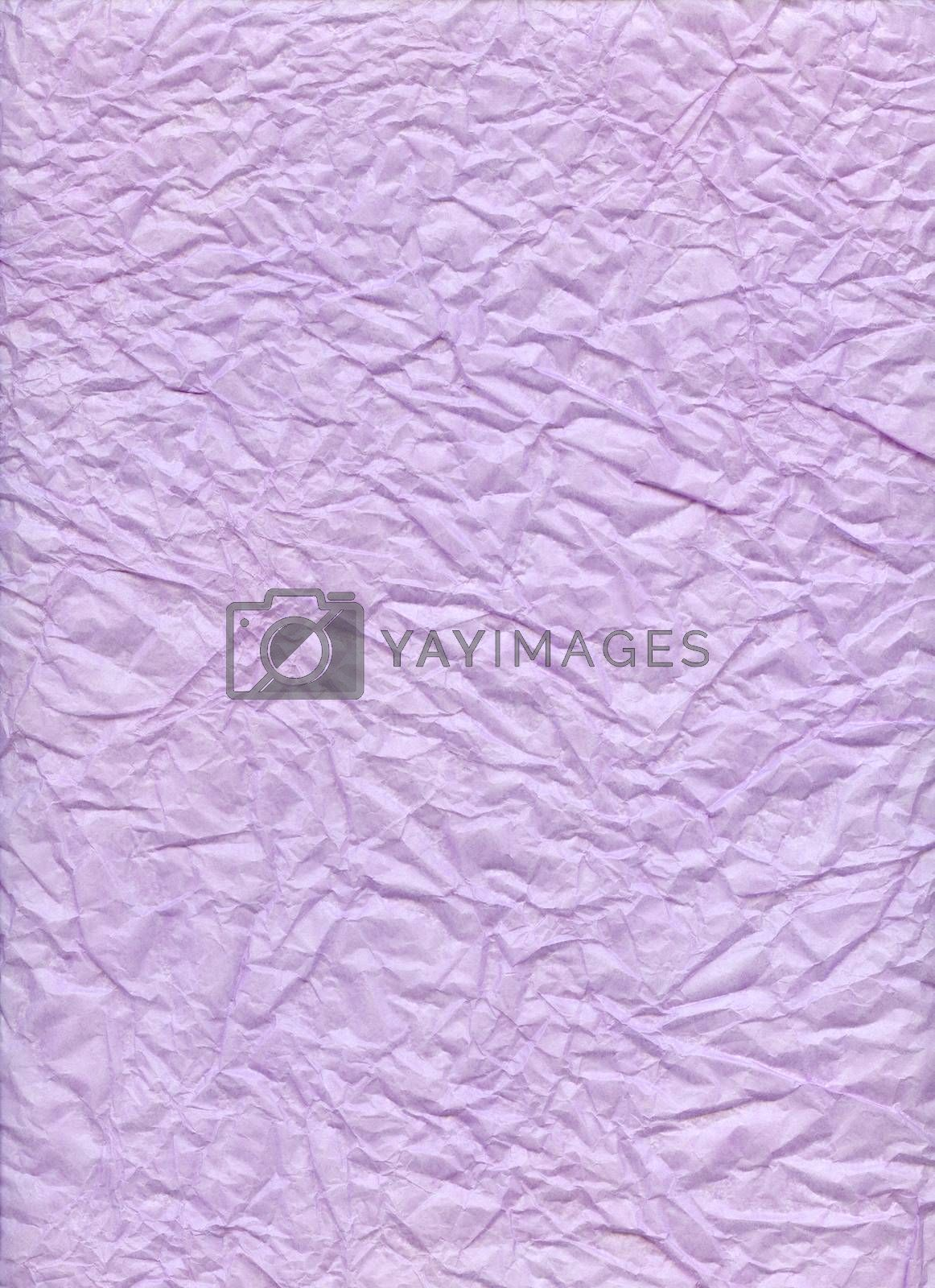 Crumpled paper lilac. Textured background.