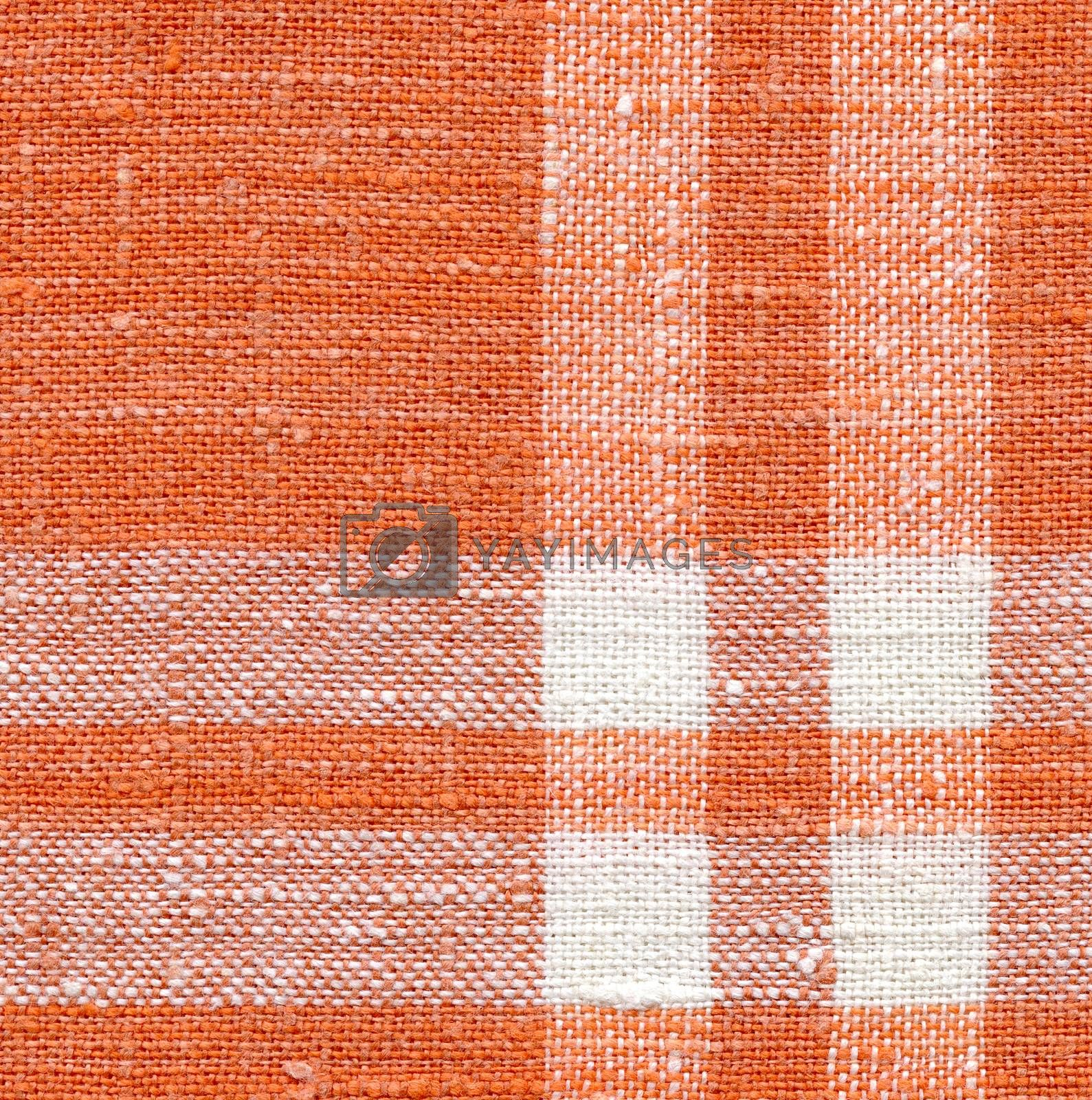 Canvas texture, white and orange with strips by ESSL