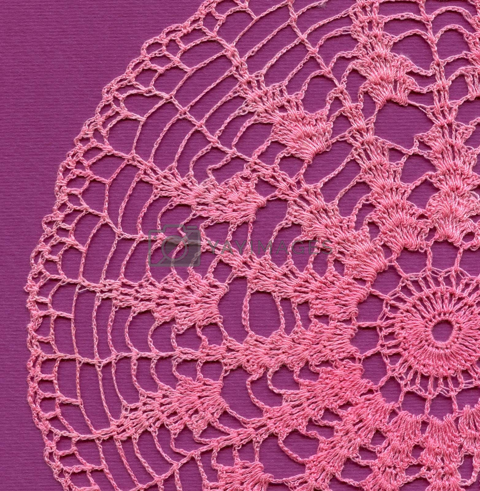 Crochet handmade lace. Abstract Light Color Background.