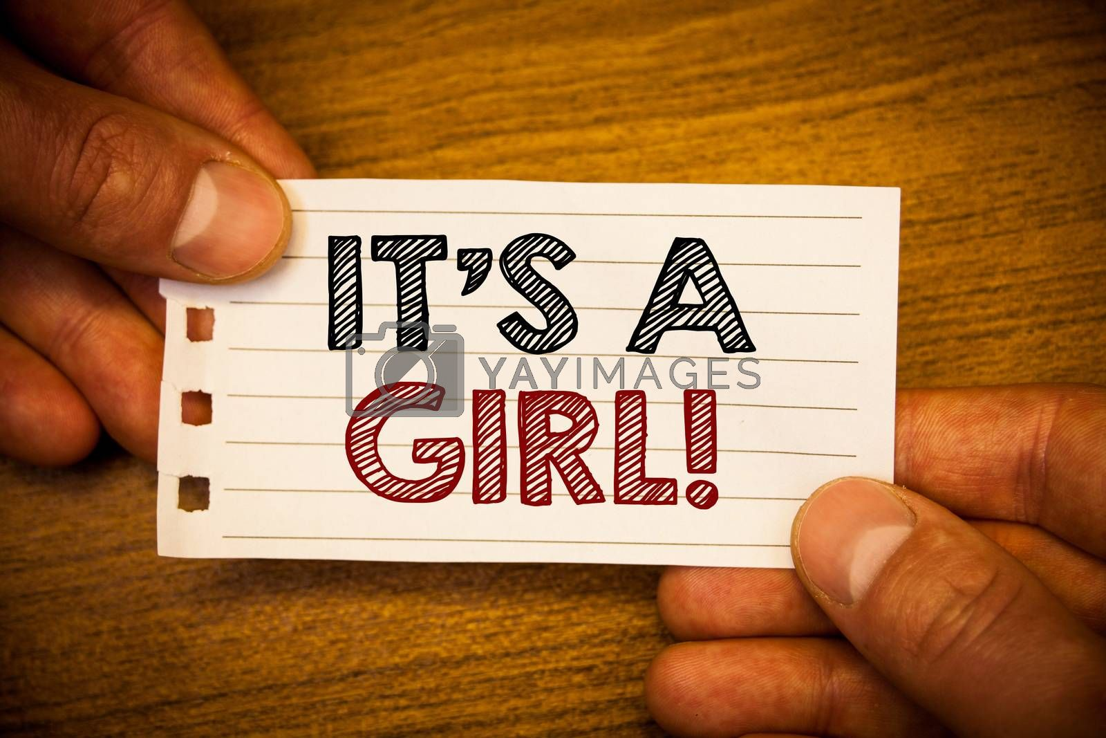 Text sign showing It Is A Girl Motivational Call. Conceptual photo Female baby coming Gender reveal Celebration