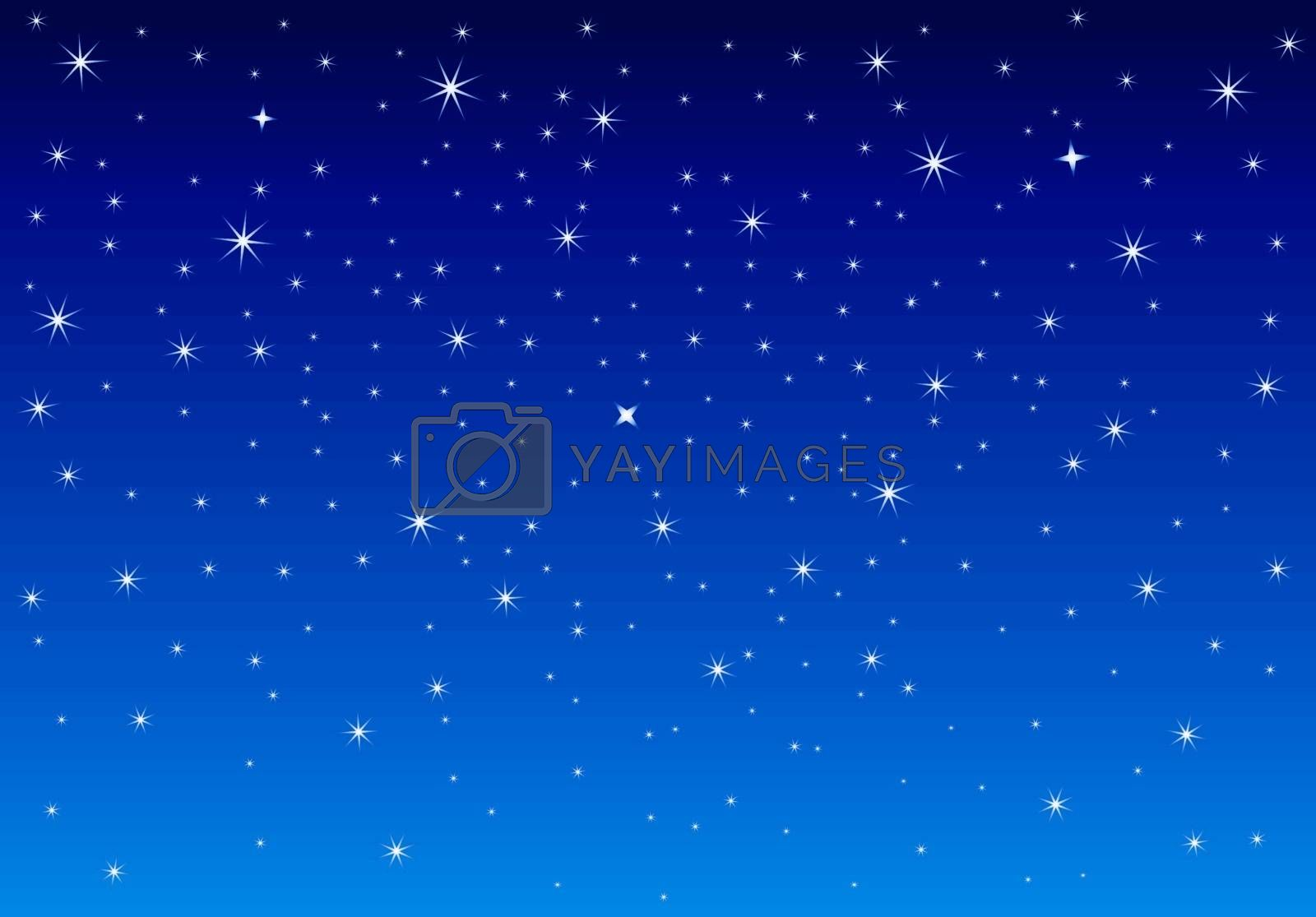 Abstract starry sky. Night sky with shining stars.