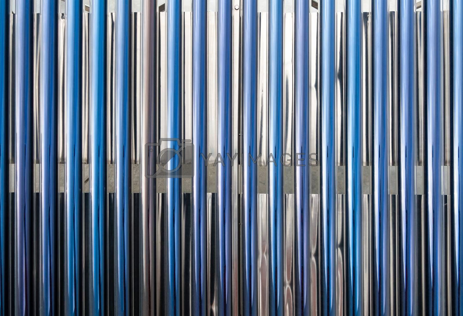 Closeup on solar water heater tubes