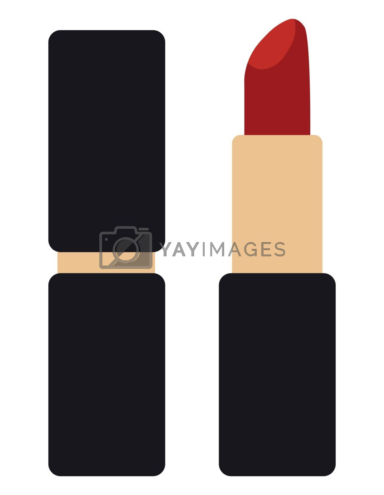 Lipstick flat icon isolated on white background. Vector Illustration.