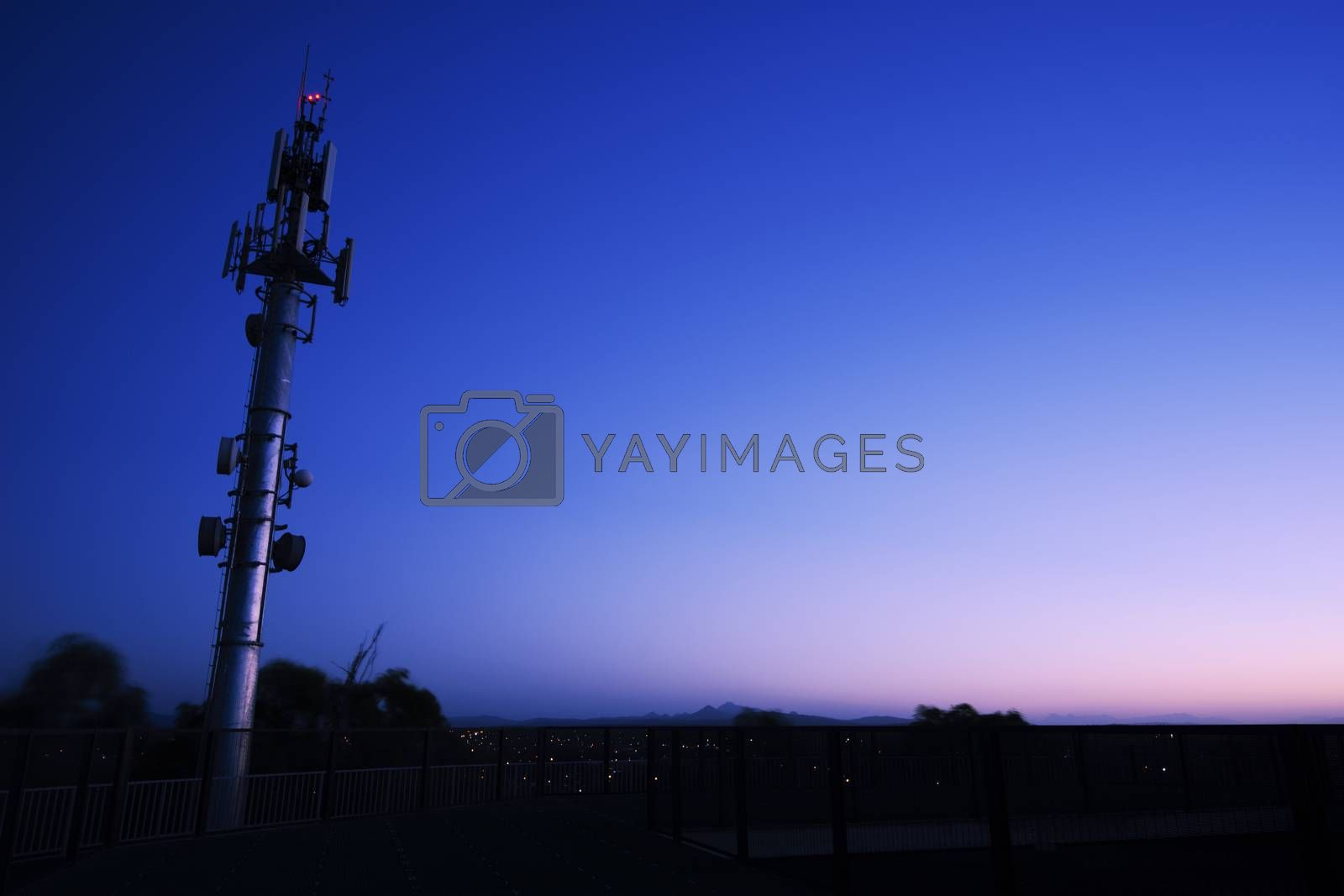 Communications and radio tower in Ipswich City, Queensland.