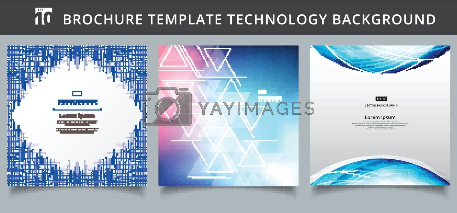 Set template technology covers design. You can use for print, ad, brochure, leaflet, flyer, poster, magazine, banner, website. Vector illustration