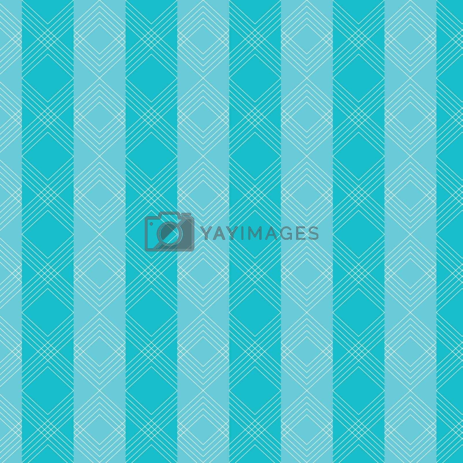 Triangles wavy lines pattern on blue striped background. Vector illustration