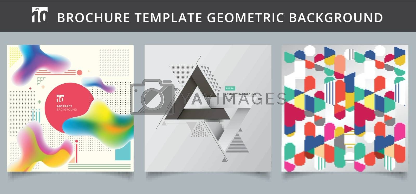 Set template geometric covers design. by phochi