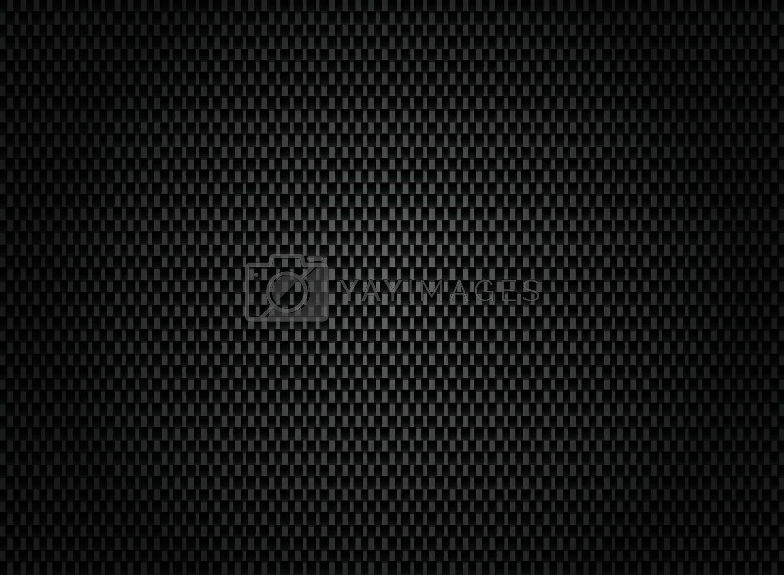 Abstract carbon fiber texture on dark background. by phochi