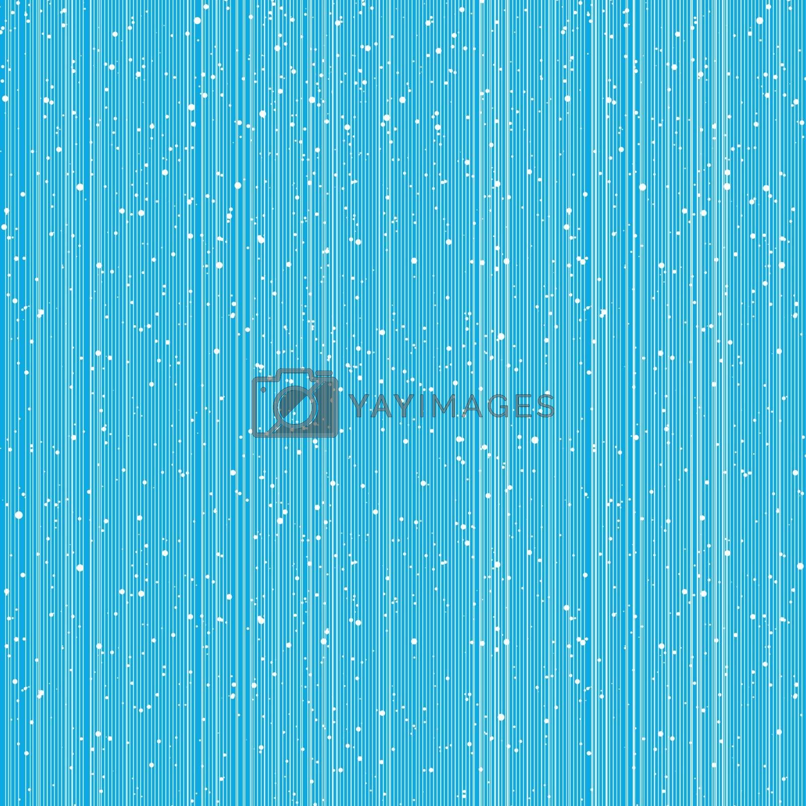Abstract lines pattern and grunge brush texture on blue background. Vector illustration
