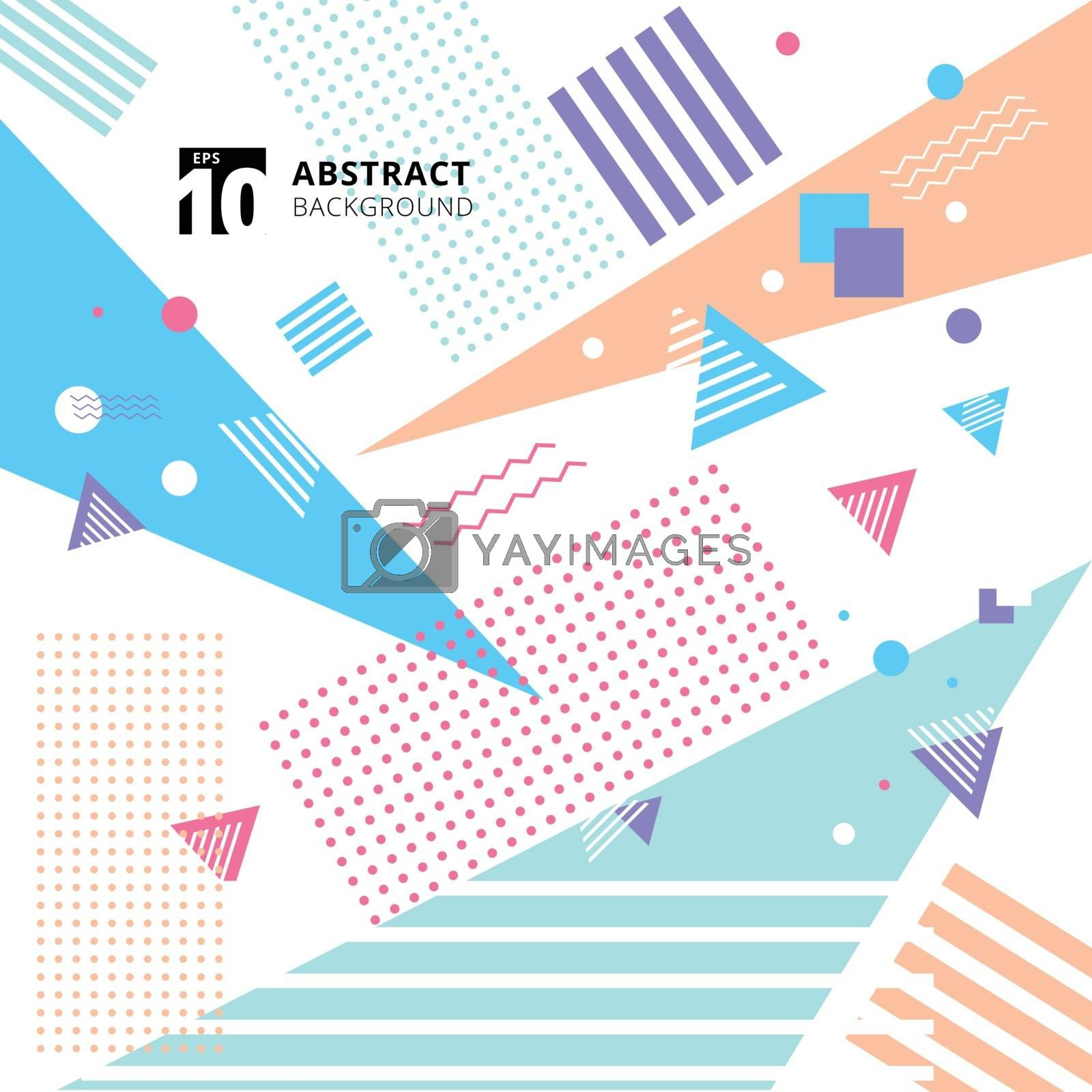 Abstract colorful geometric pattern style background. Vector illustration