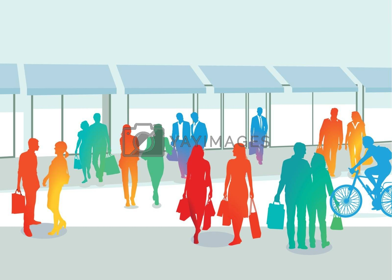 Royalty free image of Groups of People shopping by scusi