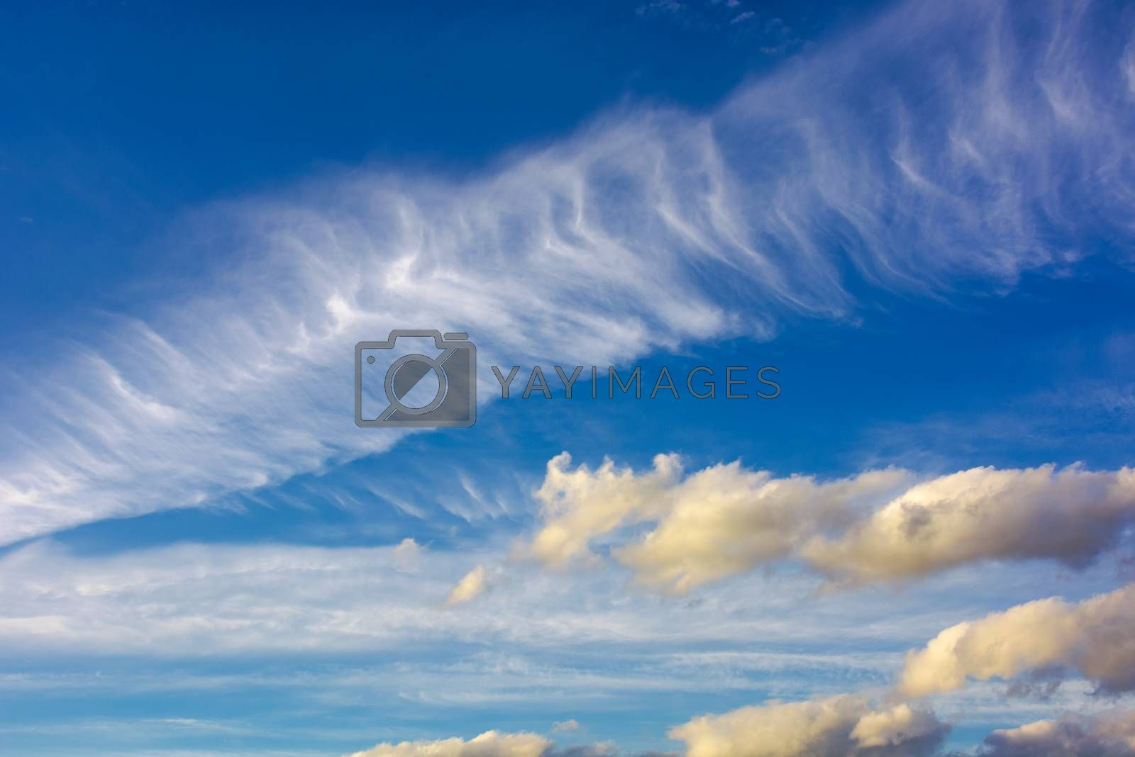 dramatic sky with dynamic cloud arrangement. cloudy weather background